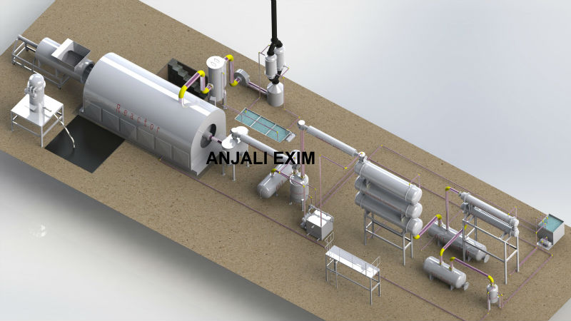 lastest supply waste tire oil extraction machinery
