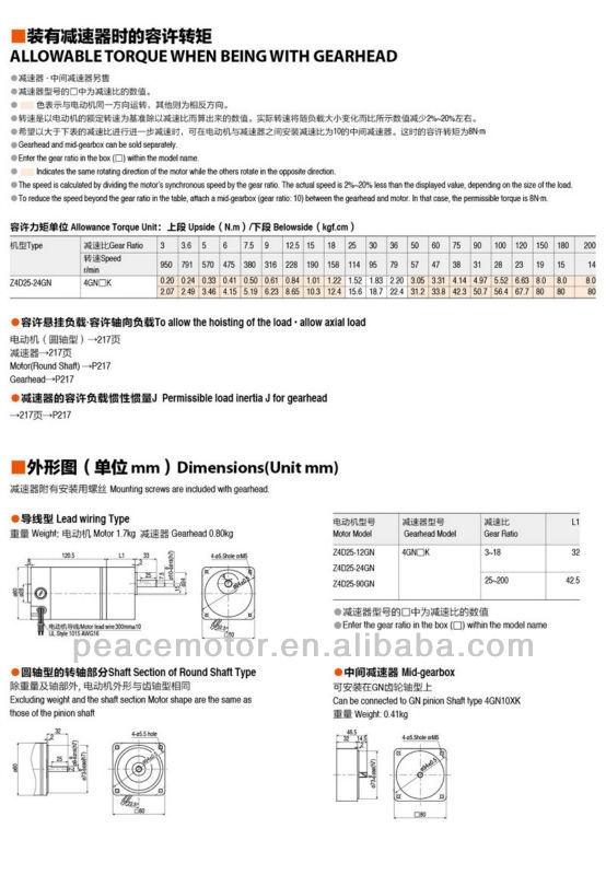 40W 12V DC Motor