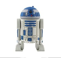 retail genuine 1GB/2GB/4GB/8GB/16GB/32GB flash drive pen drive usb flash drive STAR WAR R2-D2 robot silicone