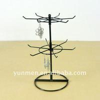 Дисплей для ювелирных изделий JD004-12 Hook metal Rotation jewelry display Stand, layer spacing 20 cm