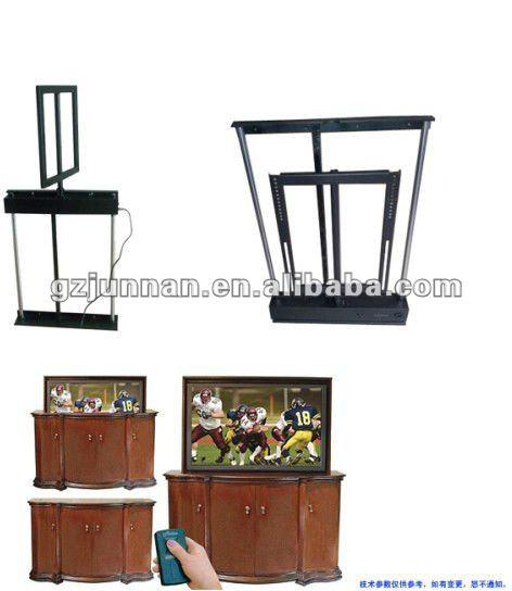 el trica levantar tv cama televis o elevador cama elevador tv autom tico suportes de tv id do. Black Bedroom Furniture Sets. Home Design Ideas