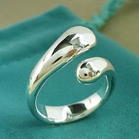 Кольцо Facroty price. silver plated Nice drop ring.TOP quality
