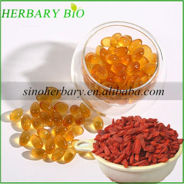 Reducing Blood Pressure of Goji berry fruit oil softgel 500mg/pc