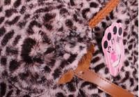 Пуховик для девочек girls leopard coat, fashion warmful long sleeve blouse, kids garments, lace, children top with belt flower