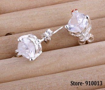 Free Shipping 925 Sterling silver classical pin wholesale fashion jewelry Clip Drop Hoop Stud Earring # Store-910013 fada nrla w