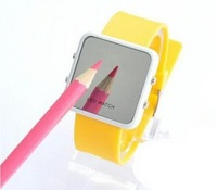 Наручные часы Fashion Silicone LED Mirror Silicone Watch Fashion Wrist Sport Watch DW-002