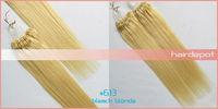 """16""""- 26"""" #60 микро кольцо волос расширения человека Платиновая блондинка клубок бесплатно шелковистые прямые волосы расширение легко цикла 4а класса превосходно"""