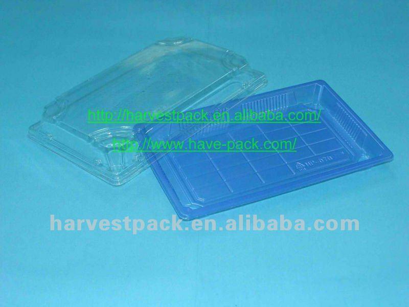 wood grain printing disposable plastic sushi tray