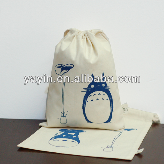 Small drawstring cotton bag