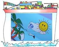 Бассейны и аксессуары летом на море sl00310