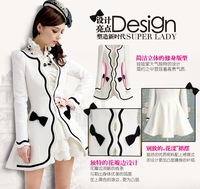S-XL free shipping Manufacturers supply new fashion women's white long coats