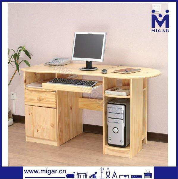 Bois massif homeused bureau d 39 ordinateur mgd 1107n table for Table pour pc de bureau