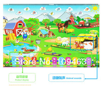 Обучающий компьютер для детей Thick safe packing 1pcs/lot Hotsale Farm English Y pad for English children learning machine computer educational toys for baby