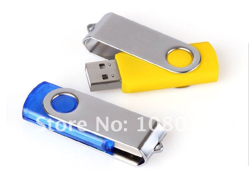 Free shipping wholesale new 16G rectangle Rotation USB Flash Drive,USB flash disk  Full capacity