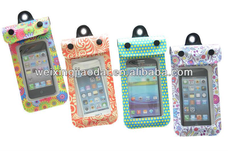 Stylish Cute Beach Cellphone Bags PVC OEM Custom Waterproof Bags