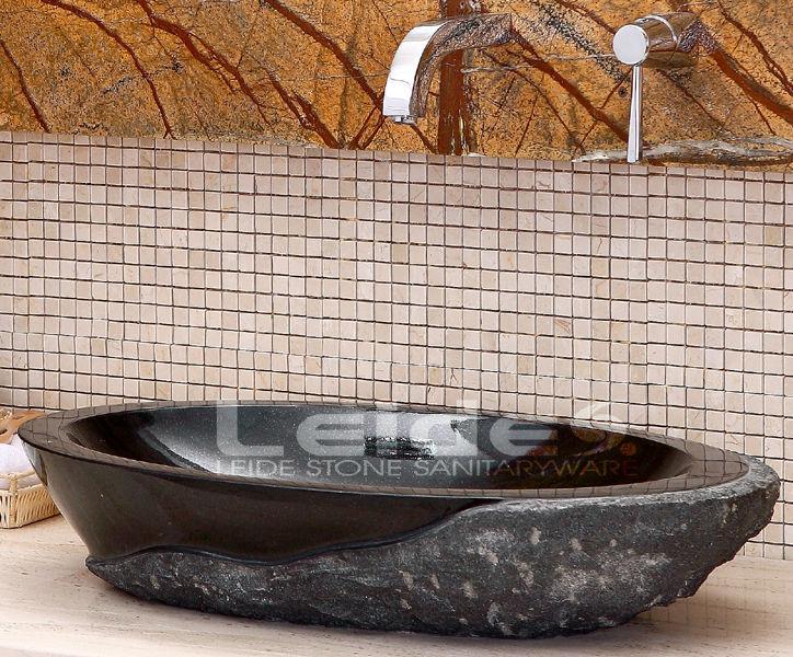 Granito nero assoluto lavello del vaso lavelli del bagno id prodotto 210811869 - Lavandino in pietra bagno ...