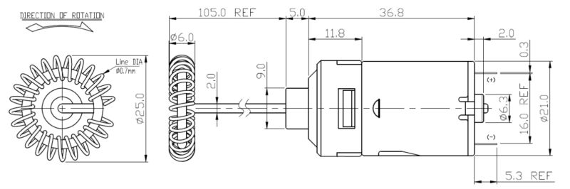 Newly Supreme Quality 24v dc motor with 6900rpm