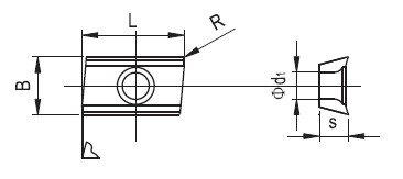 Aluminum machining tools APKT
