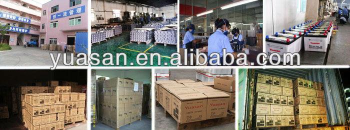12V100AH Yuasan Power Dry Charged Heavy Duty Truck Batteries US-6TN Car Battery
