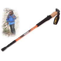 Free shipping, 3-Section 7075 aluminium alloy, Telescopic Hiking Antishock Pole Walking Stick, ZYD012