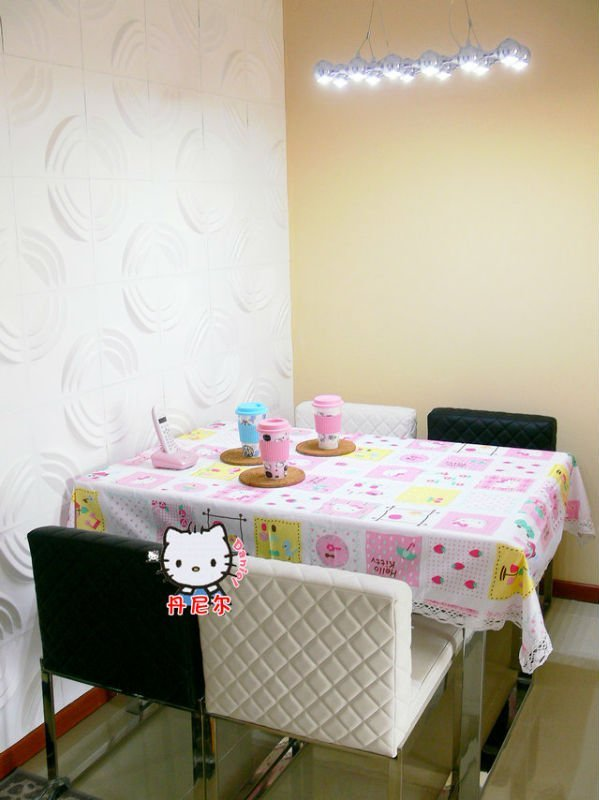 Free Shipping/ Lovely Hello Kitty Table Cloth/ Cotton tablecloths with Lace/ tablecloth/ Hello Kitty Home Supplies wholesale