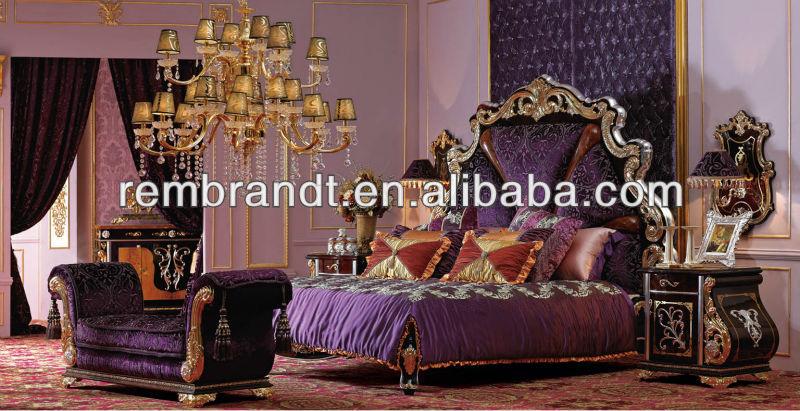 Luxe royal impériale classique mobilier de chambre-Literie-ID de ...