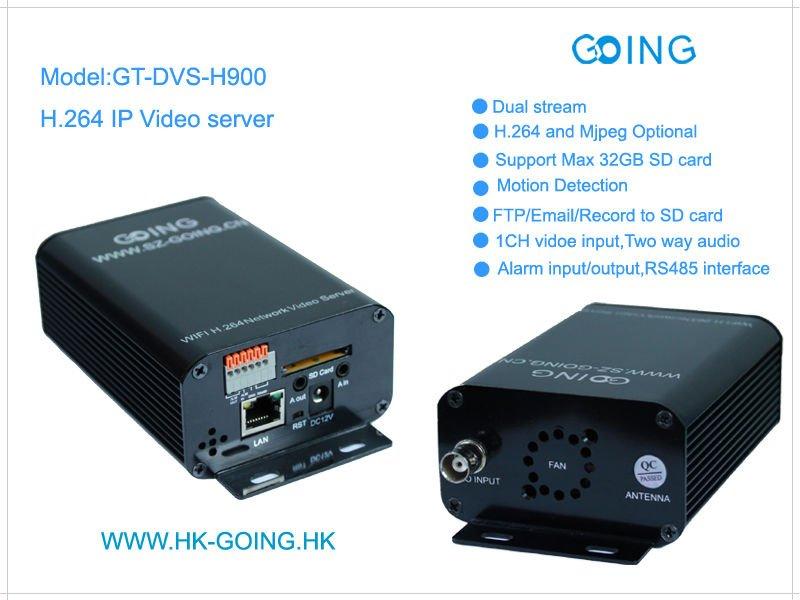 1ch h 264 sd card DVR ip video server GT-DVS-H900
