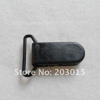 DHL 200pcs Hot Black D shape Plastic Clip for 20mm ribbon, plastic Pacifier clip, Soother Clip