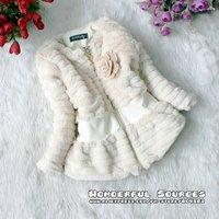 Детская одежда для девочек 3 pcs/lot, Kids girls winter plush long style coat, girl long sleeve outerwear, children clothing/garment