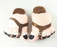 Wholesale Cute Big Toe plush slippers lovely warm slippers soft outsole Warm Winter plush shoes Chirstmas Gift Mix Colors