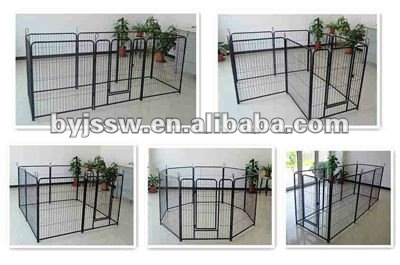 Iron Fence Dog Kennels