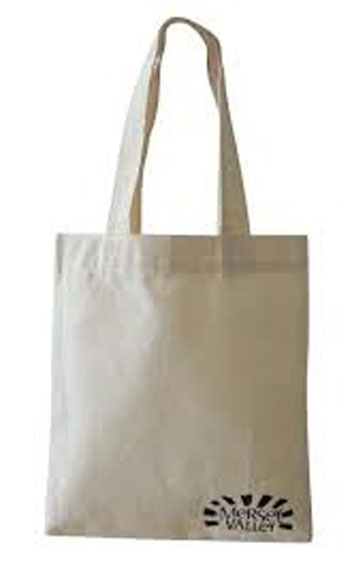 10oz cotton canvas tote bag with silk-screen printing