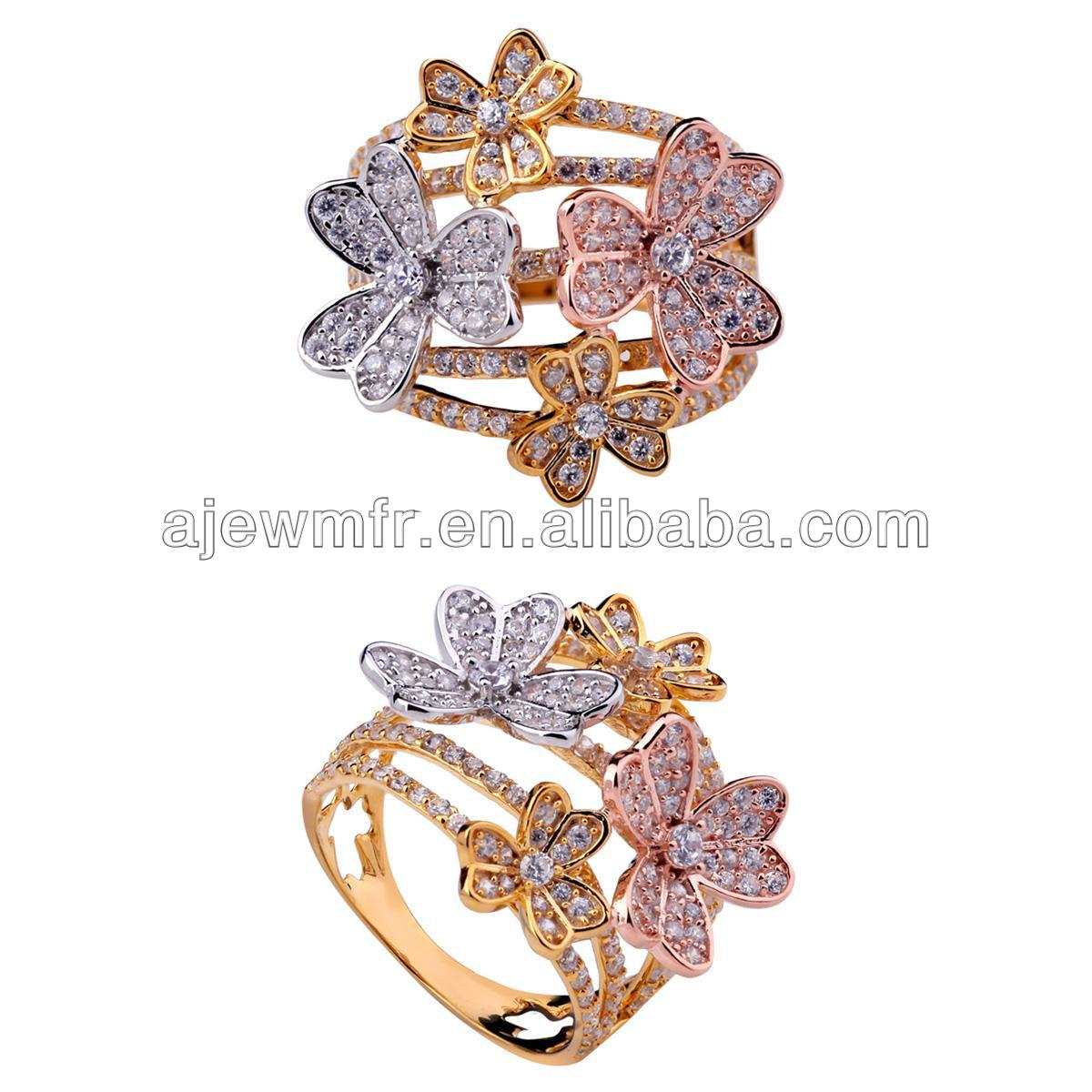 18k Saudi Gold Ring 18k cz Saudi Gold Jewelry