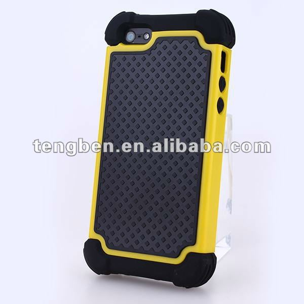3 in 1 case Hybrid Rugged Rubber Matte Hard Case Phone Cover For iPhone 5