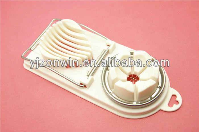 Kitchen plastic double 2 in 1 egg slicer divider