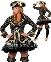 Женский эротический костюм High quality halloween costume, sexy pirate costume C1013
