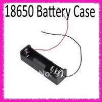 "Электроника Plastic Battery Storage Case Box Holder for 1 x 18650 Black with 6"" Wire Leads"