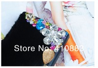 Free Shipping +Hot women Ms long section of the leather fashion leather wallet women money wallet  C035