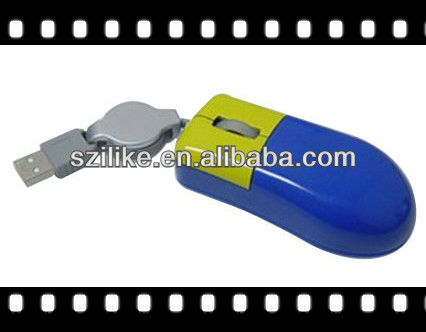 Retractable/straight Mini Optical Mouse LD-258