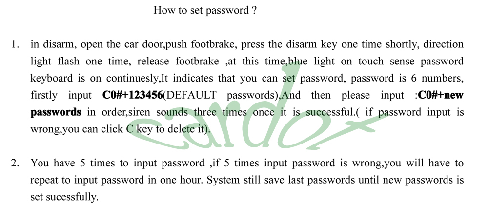 passwords setting