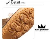Женские сандалии 2012 new Women's Fashion T-strap Platform flat scuff Girls Sandals