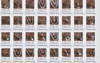 Цепочка с подвеской 925 silver Factory Price jewelry Three platoon bead necklace N0123