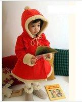Комплект одежды для девочек Qiu Dongkuan children's Christmas 2011 Red Hooded jacket coat padded F10526 out children aaa069
