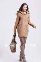 Женская одежда из шерсти Special supply high quality 70% wool coat woolen coat 2012 winter jacket hooded long section of women