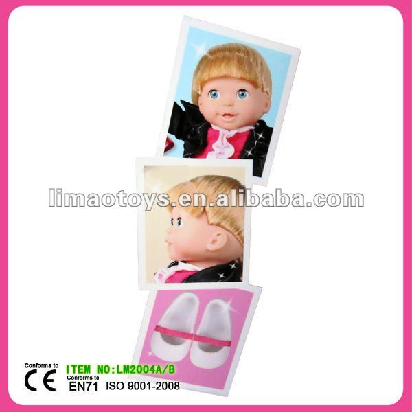 vinyl and cotton lovely kids toy doll