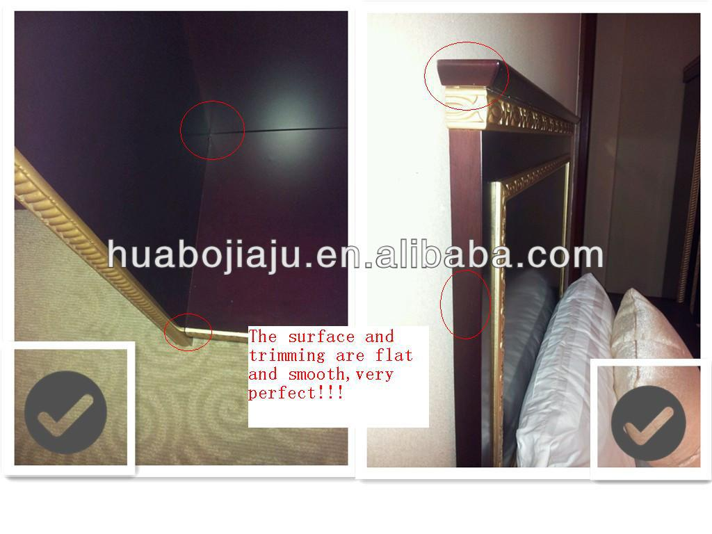 hotel bedroom set(Malaysia rubber wood E1MDF veneer)