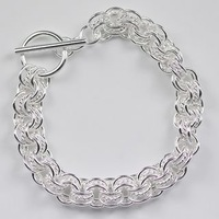Браслет jewelry silver plated 3 circle European style Bride bracelet fashion jewelry