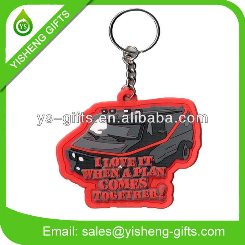 Lady Motorcycle Design PVC Keyring/Keychain