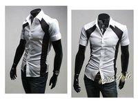 Мужская классическая рубашка D14 Slim Fit : : XS, S,