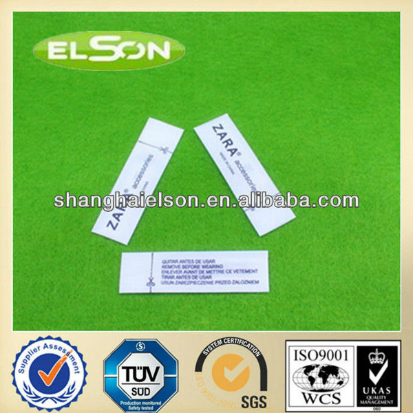 ZARA brand china hangtag label,security tag,am label,58khz Anti-Theft Label for garment ,printed label,